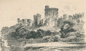 'The Castle from the Berkshire Shore', 1895. Artist: Unknown.
