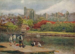 'The Castle from the Rafts', c1900. Artist: William Biscombe Gardner.