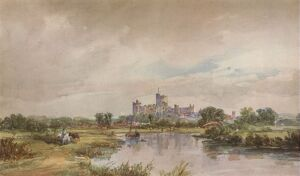 'A Castle by a River', c1851, (1938). Artist: Alfred Vickers.