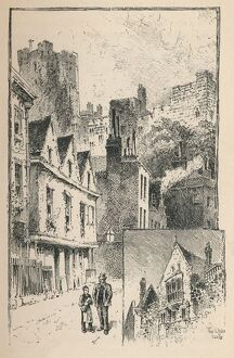 'The Castle from Thames Street. A Bit of the Outer Walls', 1895. Artist: Unknown.