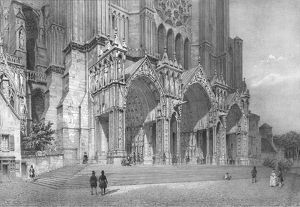 chartres cathedral northern france c1830s artists