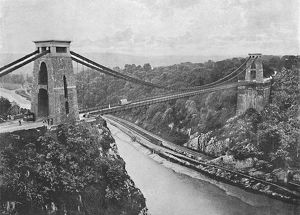 clifton suspension bridge c1896 artist harvey