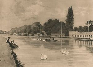 'The College Barges at Oxford', 1902. Artist: Unknown.