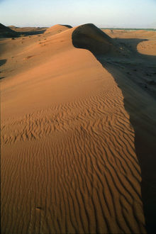 desert near al ain knife blade edges dune crests