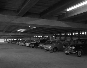 Doncaster North Bus Station car park, South Yorkshire, 1967. Artist: Michael Walters