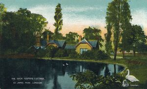 'The Duck Keepers Cottage, St. James Park, London', 1907. Artist: Unknown.