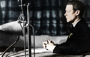 Edward VIII giving his abdication broadcast to the nation and the Empire, 11th December 1936