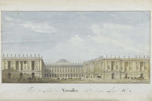 facade project palace versailles entrance side