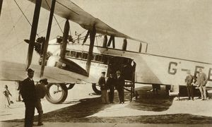 first indian air mail arrives croydon airport