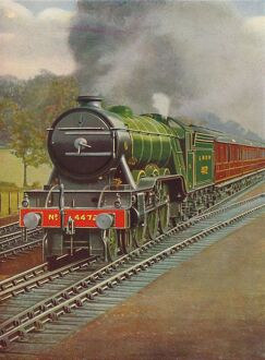 'The Flying Scotsman Passing Hadley Wood, L.N.E.R.', 1926. Artist: Unknown.