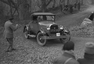Ford Model A 2-seater of AJ Midgely competing in the Sunbeam Motor Car Club Bognor Trial