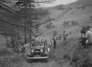 Ford V8 of Miss V Wild competing in the MG Car Club Abingdon Trial/Rally, 1939. Artist