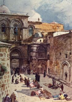 the forecourt church holy sepulchre 1902 creator