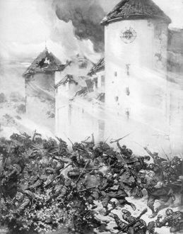 french germans battle walls chateau mondement