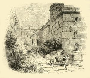 gate lions mycenae 1890 creator unknown