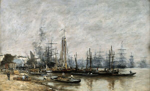 the harbour bordeaux 1874 artist eugene louis