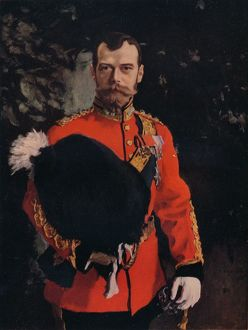 'H.I.M. The Emperor Nicholas II. Colonel-in-Chief of the Royal Scots Greys', 1902