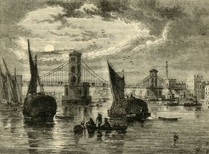 hungerford suspension bridge 1850 1881 creator