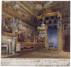 Interior view of the King's Audience Chamber in Windsor Castle, Berkshire, 1818