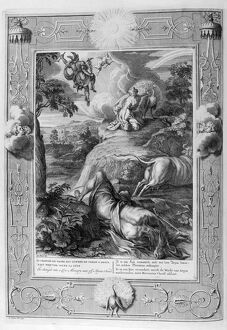 Io changed into a cow: Mercury cuts off Argus' head, 1733. Artist: Bernard Picart