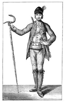 'James Boswell, esq in the dress of an armed Corsican Chief, 1769.'Artist