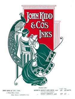 'John Kidd & Co's Inks advert', 1907. Artist: Unknown.