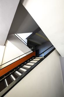 main staircase bauhaus building dessau germany