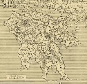 map peloponnesus 1890 creator unknown