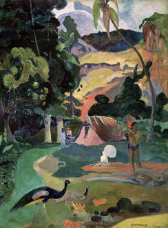 'Matamoe (Death. Landscape with Peacocks)', 1892. Artist: Paul Gauguin