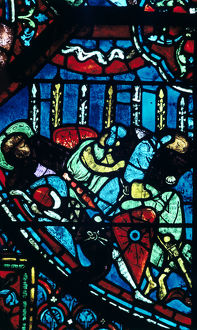 miracle flowering lances stained glass chartres