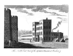 'The North East View of the Queens Palace at Windsor.', 1780. Artist: Unknown