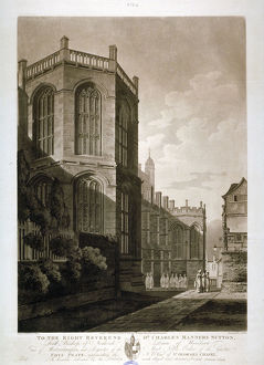 North-east view of St George's Chapel, Windsor Castle, Berkshire, 1804. Artist