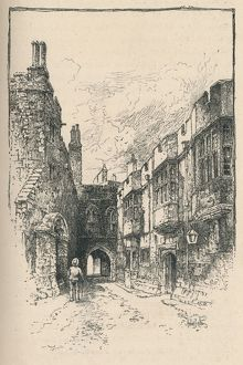 'Northern Gate and Library, from King John's Tower', 1895. Artist: Unknown.