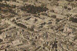 'Novel View of the British Museum Surrounded By The Massed Trees of Bloomsbury&#39