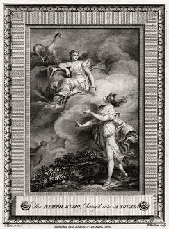 'The Nymph Echo, Chang'd into A Sound', 1774. Artist: W Walker