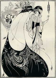 'The Peacock Girl', 1893. Artist: Aubrey Beardsley.