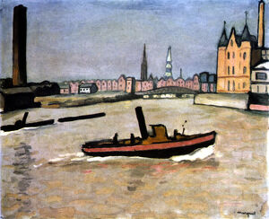 the port hamburg 1909 artist albert marquet