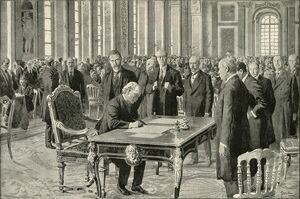the prime minister great britain signing peace