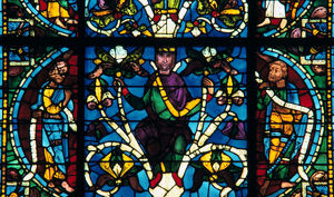 prophet stained glass chartres cathedral france