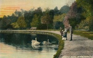 'Queens Mere, Wimbledon', c1910. Artist: Unknown.
