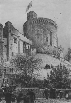 'The Round Tower Windsor Castle', 1887. Artist: Axel Herman Haig.