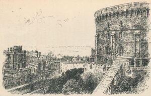 'The Royal Tower from the King of Scotland's Lodging.', 1895. Artist: Unknown.