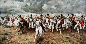 'Scotland for Ever'; the charge of the Scots Greys at Waterloo, 18 June 1815
