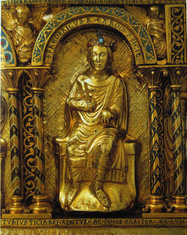 shrine charlemagne detail frederick ii holy