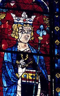 solomon stained glass chartres cathedral france