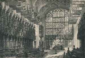 'St. George's Chapel: The Choir, Looking East', 1895. Artist: Unknown.