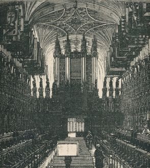 'St. George's Chapel: The Choir, Looking West', 1895. Artist: Unknown.
