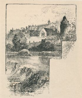'St. George's Chapel from the River', 1895. Artist: Unknown.