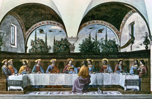 'The Last Supper', 1480. Artist: Domenico Ghirlandaio