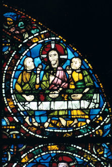 supper stained glass chartres cathedral france